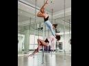 Pole Dance double. Парные элементы.