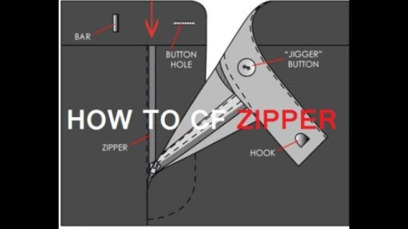 How To Sewing CF Zip How to sew a zipper fly How to sew zipper fly a pant पंत ज़िप सेविंग