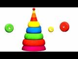 Деревяшки - Пирамидка - Развивающий мультик для самых маленьких - Серия 20