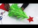 How to Make an Easy Paper Christmas Tree | DIY Origami Christmas Crafts