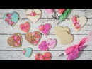 Rustic Floral Valentine's Day Cookies