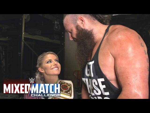 (WP) Braun Strowman attempts to kiss Alexa Bliss on WWE MMC