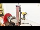 Construyendo una lijadora de banda de acero en el esmeril de banco