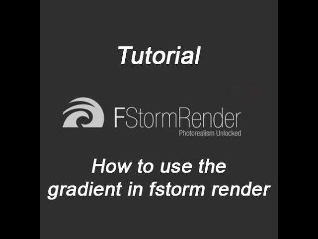 How to use the gradient in fstorm