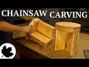 Two Stools From One Log! Indoor Chainsaw Carving, Dewalt Flexvolt Test