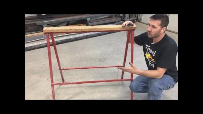 Sawhorses Folding Lightweight, Shop project, DIY plans