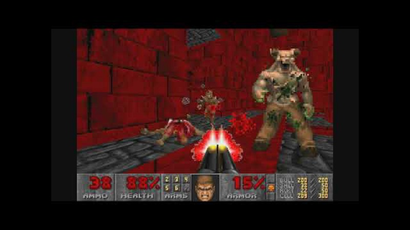 Doom II: No rest for the living. Inferno of Blood (6 lvl)