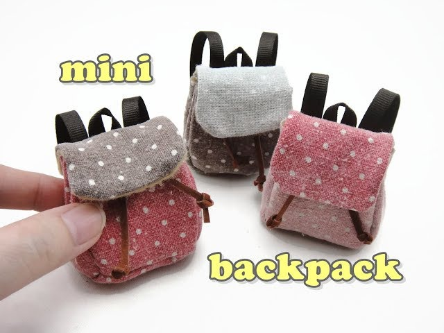 DIY Miniature Doll Accessories Mini Backpack School Bag - Functional - NO SEW!
