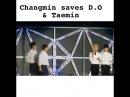 Changmin TVXQ saving D.O EXO and Taemin SHINee