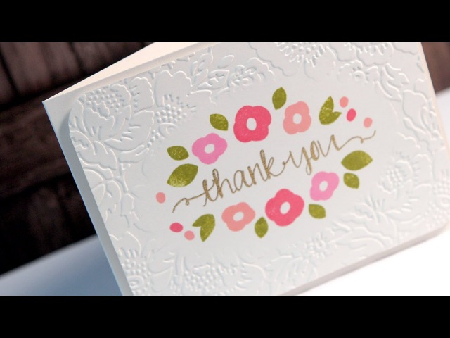 Thank You Diffuser Embossing Make a Card Monday 225