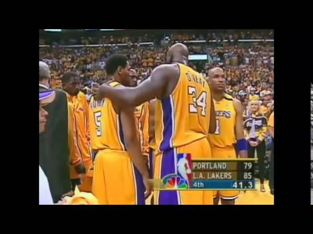 Kobe Memories: KB to Shaq Alley Oop WCF 2000 NBA Game 7 Blazers vs Lakers