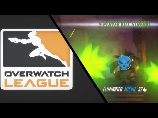 SoOn insane Tracer gameplay and kills vs. Dallas Fuel [Overwatch League]