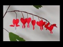 How to make Paper Flowers Bleeding Heart \ dicentra ( flower 190)
