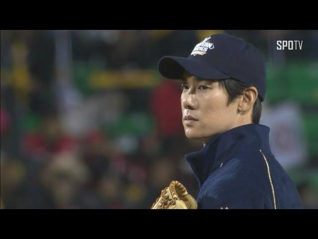 [KS 5차] '응답하라 1994 야구선수 칠봉이' 배우 유연석의 화이팅 넘치는 시구 (10.30)