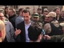 بالفيديو الرئيس الأسد بين جنود الجيش السو