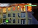 В США рабочего спасли из горящего здания за секунду до обрушения