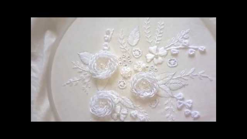 Hand embroidery designs. Hand embroidery stitches. White work embroidery.