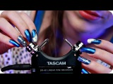 ASMR Tascam Mic Tapping W Scratching (NO TALKING) Gentle Close Up Ear to Ear Sounds