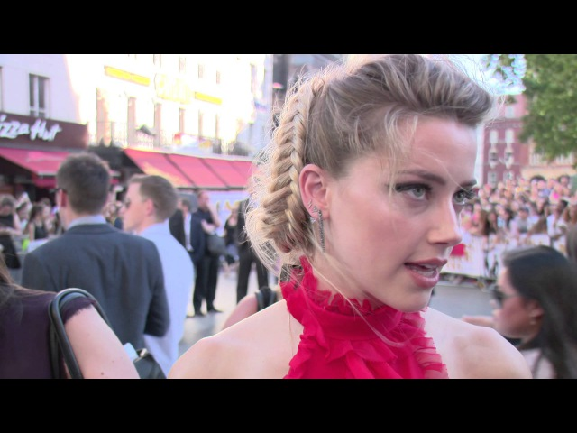 Magic Mike XXL European Premiere - Amber Heard Interview