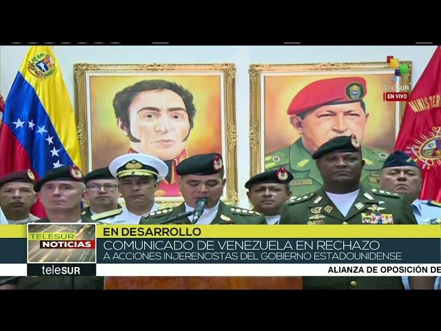 Venezuela La FANB rechaza sanciones impuestas por el gob. de EEUU