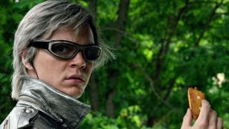 Питер Максимофф (Ртуть) спасает мутантов от взрыва в школе Ксавьера. Люди Икс: Апокалипсис. 2016