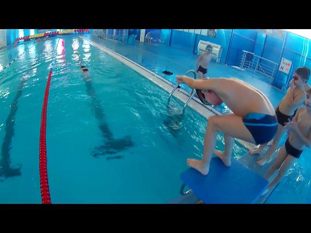 Учимся прыгать в воду со стартовой тумбы дети 7 - 9 лет