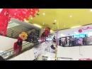 Atraksi Barongsai di dalam Mall Kok bisa ya Baby ali icel pertama lihat langsung Barongsai