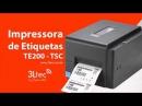 Como trocar o Rolo de Etiquetas da Impressora TE200 da TSC