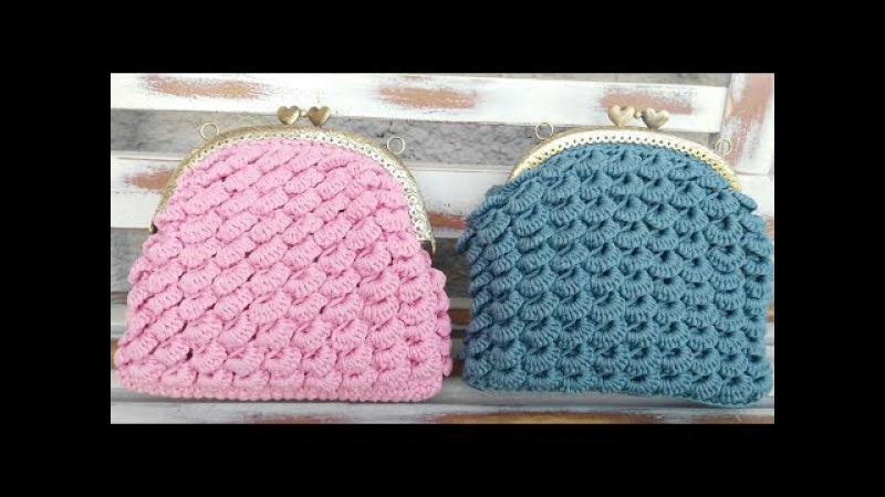 Tutorial pochette punto ventaglietti all'uncinetto/ Crochet bag shell stitch