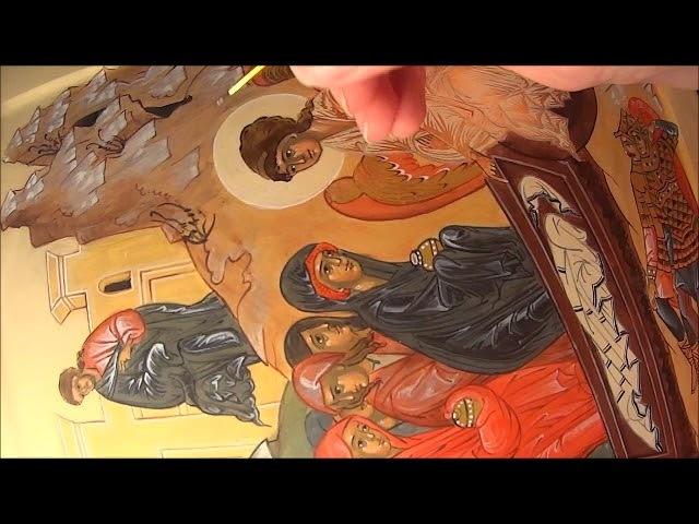 Икона Жены Мироносицы Подплавка под движки и власы