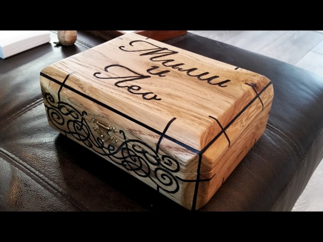 The Wedding Gift: Engraved Oak Felt Micarta Display Box............... DSNERV