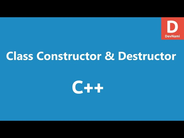 C Class Constructor and Destructor