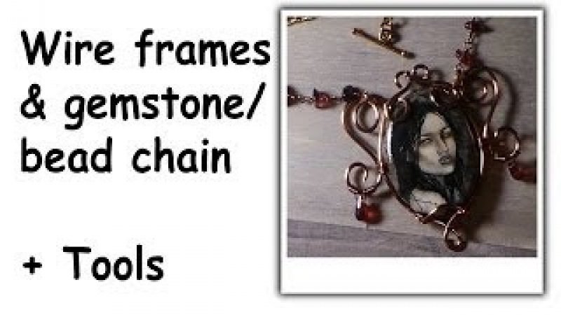 Making Wire Frames Gemstone Chain For Your Polymer Clay Jewelry