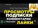 Ytmonster весь мир для Ютюб Просмлтры Лайки Подписки Коммент