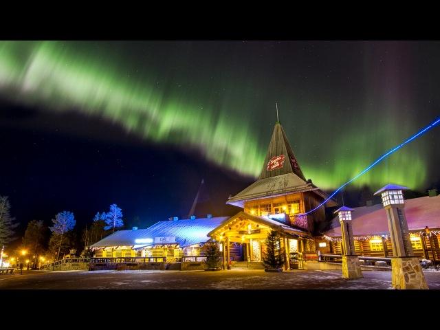Northern lights in Santa Claus' hometown Rovaniemi Lapland Finland: aurora borealis for kids travel