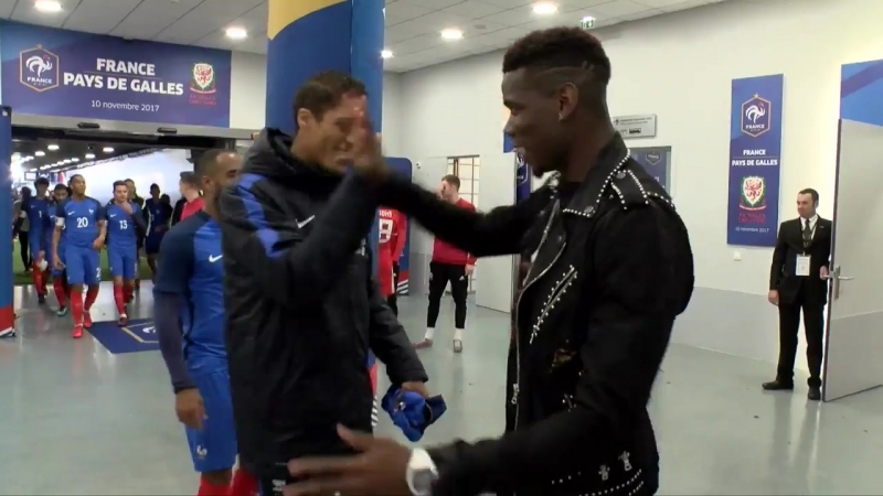 Paul Pogba has got a different handshake for nearly every player in the France NT