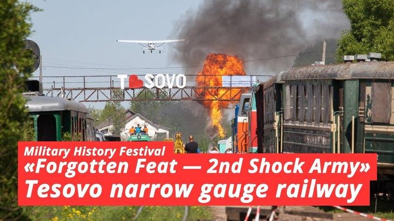 Военно-исторический фестиваль на базе Тёсовской узкоколейной железной дороги