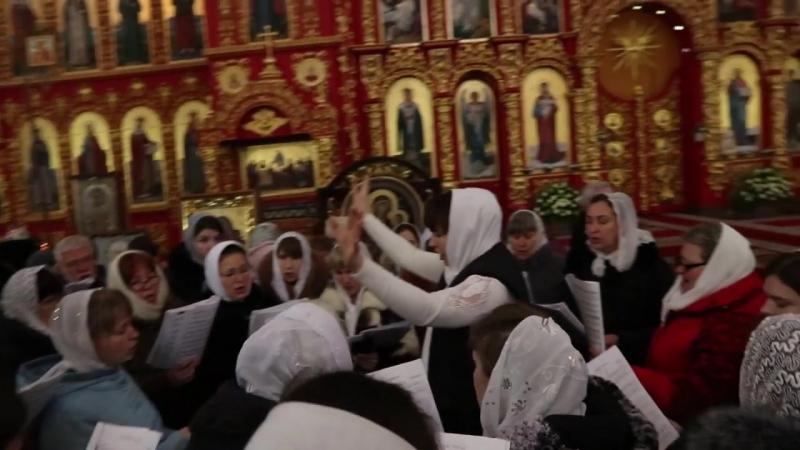 День 55-летнего юбилея Высокопреосвященнейшего Митрофана, митрополита Луганского и Алчевского (хор Свято-Владимирского кафедраль