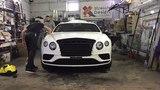 Быстрый процесс полной оклейки Bentley Continental GT в Clear Matte