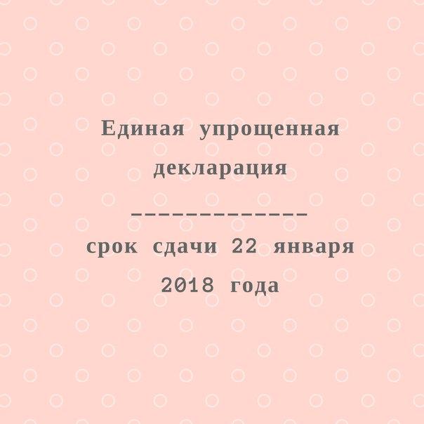 Единая Упрощенная декларация (ЕУД)==================================