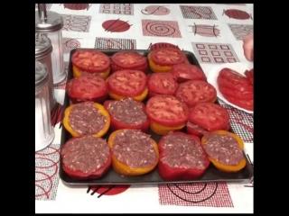 Фаршированные перцы с помидором Такого рецепта ещё не встречала 🔥
