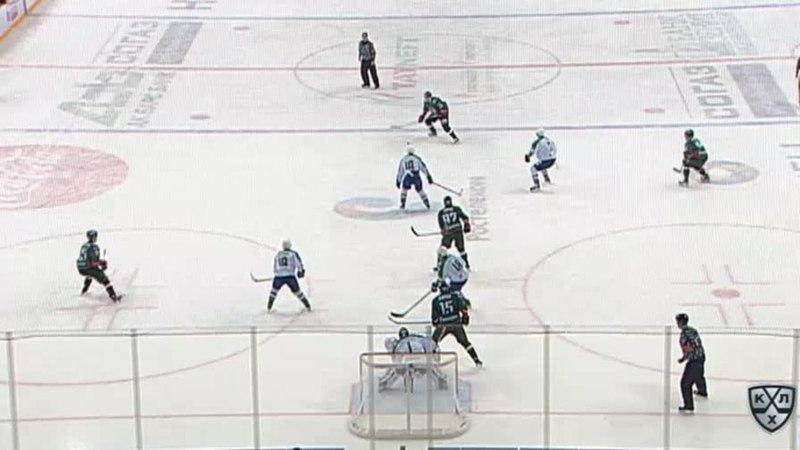 Моменты из матчей КХЛ сезона 17/18 • Гол. 1:1. Стефан Элиотт (Ак Барс) восстановил равенство в счёте 18.01