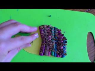 Ежик из пластилина и арбузных семечек. Детские поделки из природного материала своими руками