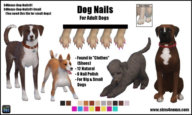 Dog Nails by Sims4Nexus