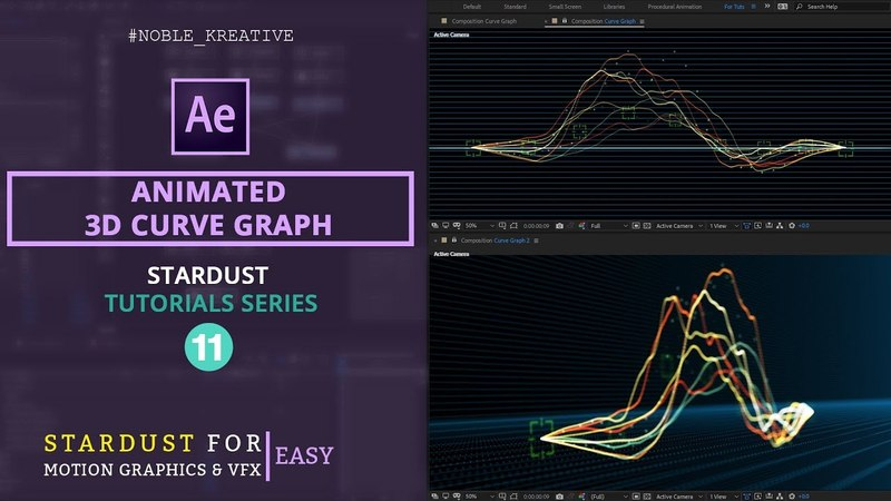Animated 3D Curve Graph in After Effects | Easy