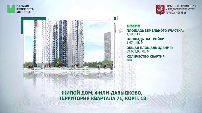 Претенденты на премию Архсовета в номинации решение объекта жилого назначения эконом класса