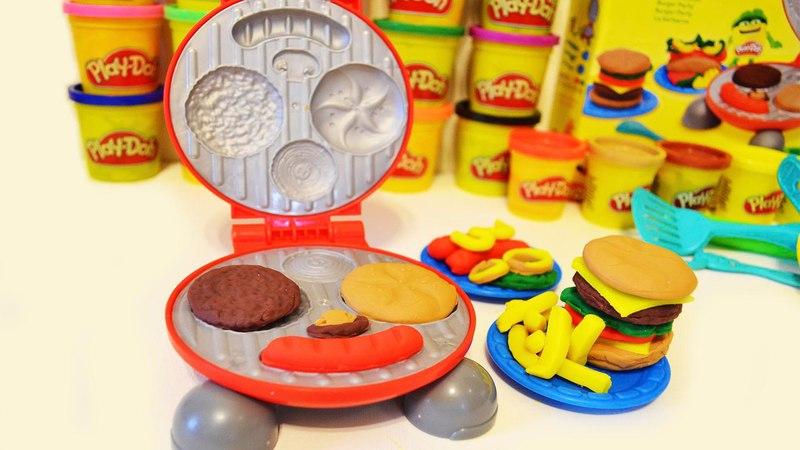 Play Doh BURGER Barbecue. Игровой набор Плей До делаем Бургеры и Барбекю. 培乐多BURGER烧烤