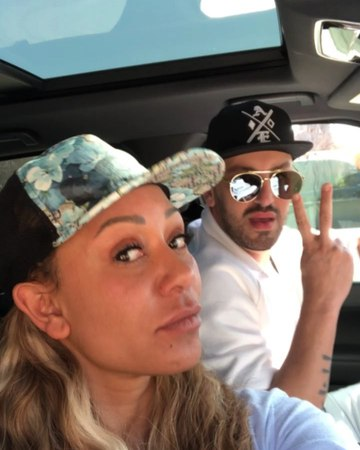 """Mel B on Instagram: """"Schoo run this morning,this is how me and @gary_90210 pull up hats an all,no make up for me😝hows everyone's Friday going? nof..."""