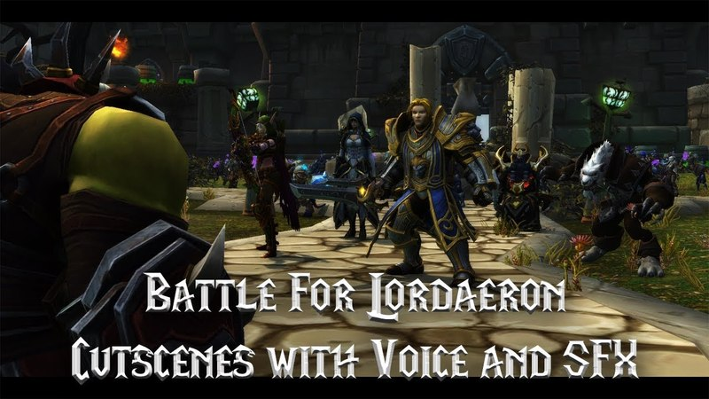 Battle For Lordaeron All Cutscenes with Voice and SFX - Battle For Azeroth Beta