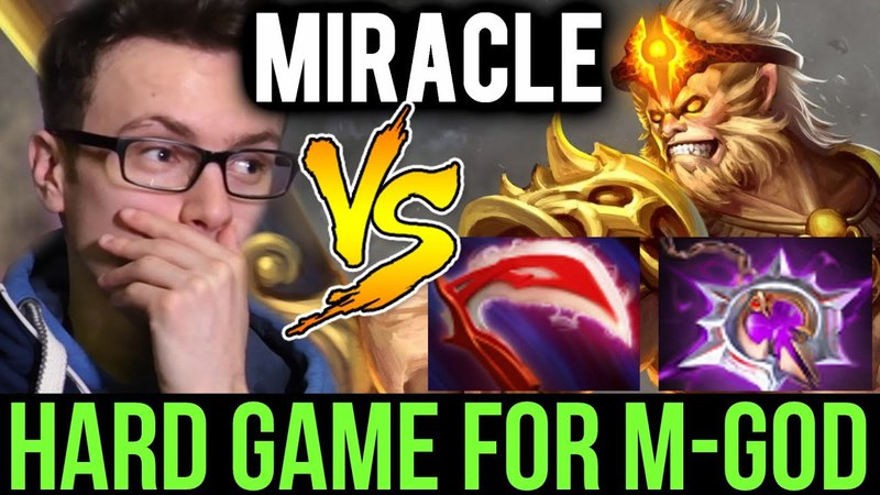 MIRACLE- vs Monkey King - Try Hard Cancer Party Ranked Dota 2